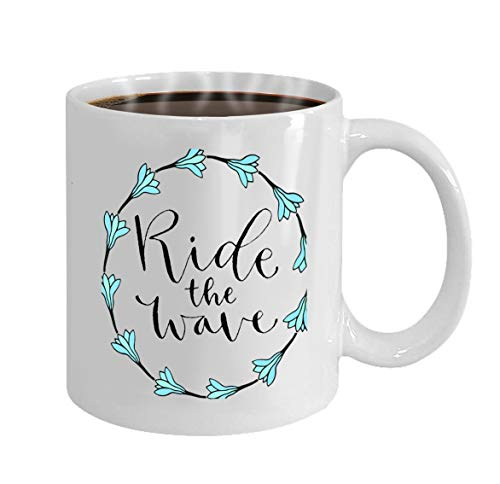 Funny Gifts for Halloween Party Gift Coffee Mug Tea ride wave handwritten greeting card printable quote (Printables Party Halloween)