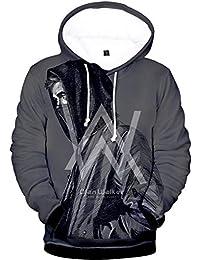 OLIPHEE Sudaderas con Capucha Impresión Digital psicodélico de Alan Walker para Hombre
