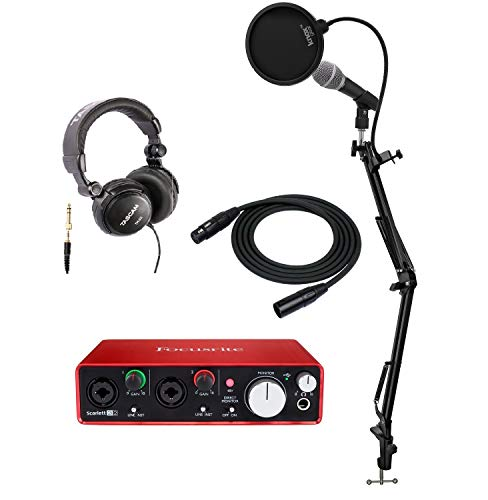 FOCUSRITE Scarlett 2i2USB-Schnittstelle + Mikrofon, Kopfhörer, Kabel