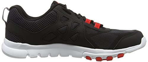 Reebok Sublite Train 4.0, Baskets Basses Homme Noir (Stealth/Black/Ashgrey/Riot Red/White)