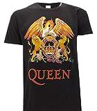Queen Camiseta con Logo Vintage clásico Música Rock Freddie Mercury - Oficial (Medium)