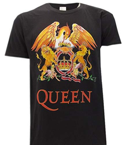 Queen Camiseta con Logo Vintage clásico Música Rock Freddie...