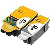 Merotoner - Cartuchos de tinta premium (2 unidades, compatibles con impresoras Kodak ESP Office 2100 AIO, ESP Office 2150, ESP Office 2170, HERO 3,1, HERO 5,1 All in One)