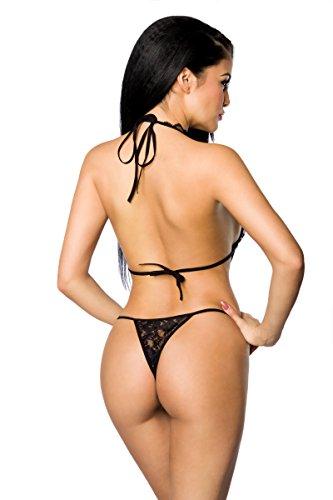 Add Health Damen Bodysuit Einteiliger Nachtwäsche Reizwäsche Metallic Body Teddy GoGo Wäsche Negligé Netz Dessous Reizwäsche Body Unterwäsche 018 Black