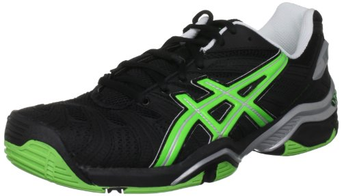 Asics–Gel-Resolution 4, Chaussures de sport homme Black/Apple Green/Lightning