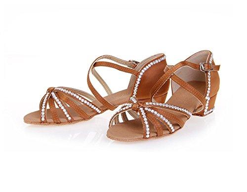Miyoopark Sapatos Dançando Calcanhar 3 Marrons Centímetros Meninas 5 CfUSFq7n