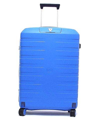 Roncato trolley viaggio, Box 5512-0118, trolley valigia medio quattro ruote in polipropilene, colore cielo