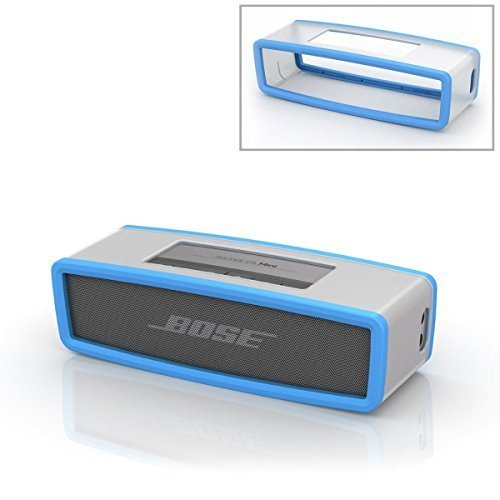 Blu morbida protettivo Custodia Borsa Cover Box Silicone Carry Case Bag Per Bose Soundlink Mini Bluetooth Speaker Altoparlante PC645
