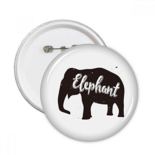 DIYthinker Elefant Schwarzweiß-Tier Runde Stifte Abzeichen-Knopf Kleidung Dekoration Geschenk 5pcs Mehrfarbig S