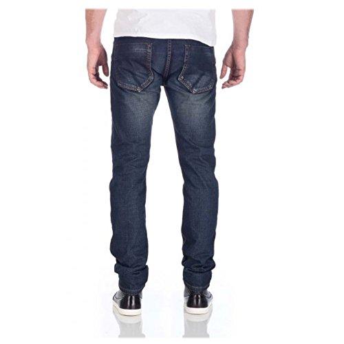 M.O.D Miracle of Denim Herren Jeans Hose Jeanshose 5 Pocket Cornell Regular Berry blue Gr. 28W / 32L Blau