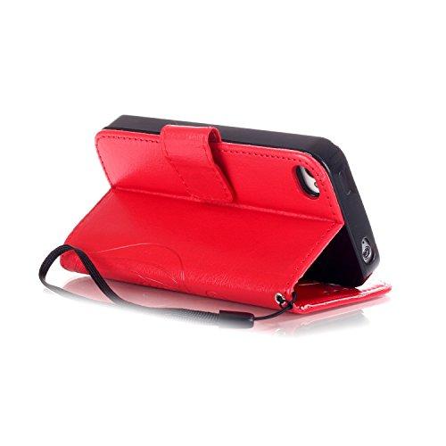 iphone 5 5S SE Custodia, Ekakashop Lusso Diamante Design Flip Folio PU Leather Book Wallet Custodia Tasca Chiusura Magnetica Stile del libro del Protettiva in Pelle Stand Cassa Case Cover per Apple ip C#9