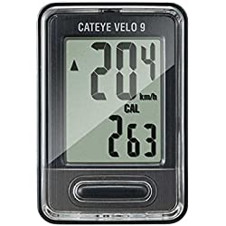 Cateye Velo9 CC-VL820 - Cuentakilómetros, color negro