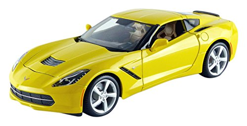 maisto-31182y-chevrolet-corvette-stingray-2014-echelle-1-18-jaune