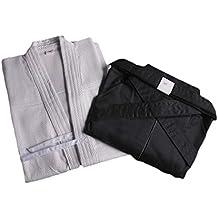 ZOOBOO. Uniforme para artes marciales: Kendo, Aikido y Hakama., blanco / negro