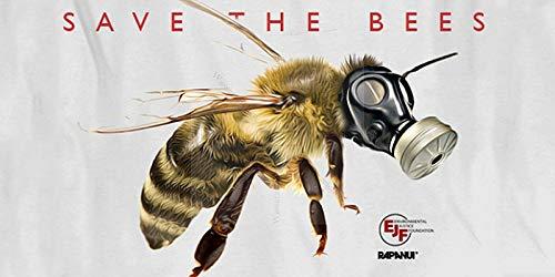 Sticker-Designs 10cm!2Stück!Aufkleber-Folie Wetterfest Made IN Germany Rettet die Bienen Save The Bees Atemmaske Gasmaske S280 Jahre haltbar UV&Waschanlagenfest Vinyl-Sticker Profi Qualität -