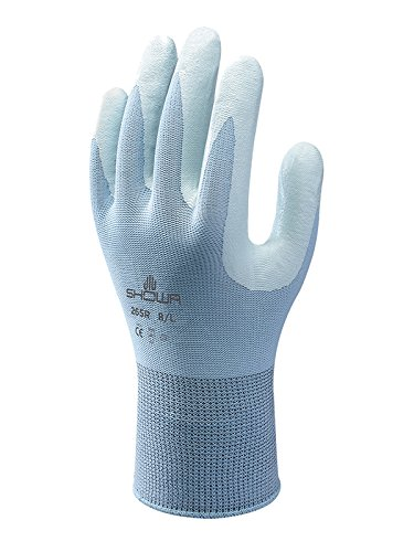 Showa SHO265-M Montage-Handschuhe, Nr. 265, besonders griffige Handfläche, Größe M, hellblau