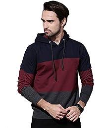 Veirdo Men's Cotton Hooded Sweatshirt