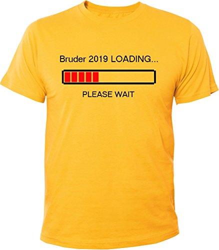 Mister Merchandise Herren Men T-Shirt Bruder 2019 Loading Tee Shirt bedruckt Gelb