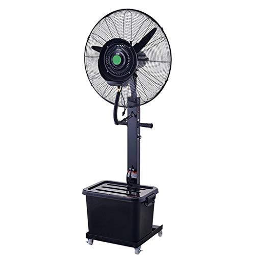 Jyfsa Ventilador Industrial Grande Que se enfría Humidificador de rocío oscilante Ventilador de Torre de pie Derecho Ventilador Interior/Exterior, 3 velocidades / 40L / Altura 180cm (Negro)