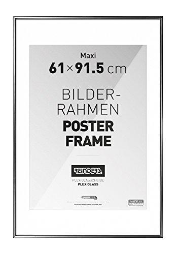 REINDERS Bilderrahmen für Maxi Poster - silber Kunststoff - acryl Scheibe - Bilderrahmen 61 x 91,5 cm