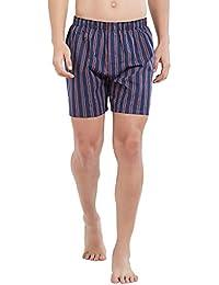 XYXX Men's Printed Cotton Boxer Red & Blue Stripe