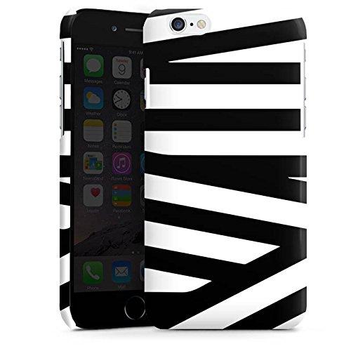 Apple iPhone 5s Housse Outdoor Étui militaire Coque Lignes Noir et blanc Motif Cas Premium brillant