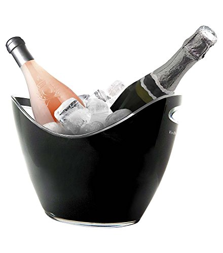 Vin Bouquet FIE 006 - Cubitera para 2 botellas, color negro