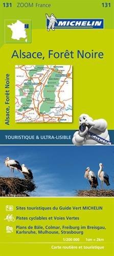 Carte Forêt Noire, Alsace, Vallée du Rhin Michelin
