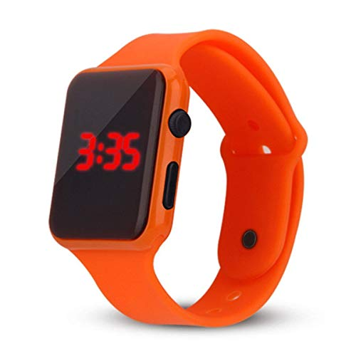 Uhren Unisex Digital LED Sportuhr Silikonband Armbanduhren Herren Damen Mode Digital Uhren Mode Armbanduhr Handgelenk Uhren Uhrenarmband Watch,ABsoar