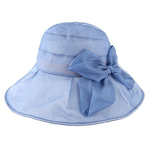 Printemps/ete soie bow Liang Mao/Visière de dames/Chapeaux de soleil de l'été/Chapeau de soleil/Développement/réduction A