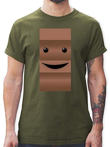 Kostüm Partner Männer - Karneval & Fasching - Partner-Kostüm Milch und Schokolade Er - XL - Army Grün - L190 - Herren T-Shirt und Männer Tshirt