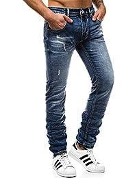 42a38dd0ea4917 OZONEE Herren Hose Jeanshose Straight-Cut Freizeithose Clubwear Modern  Täglichen Casual Sportswear Slim Fit T