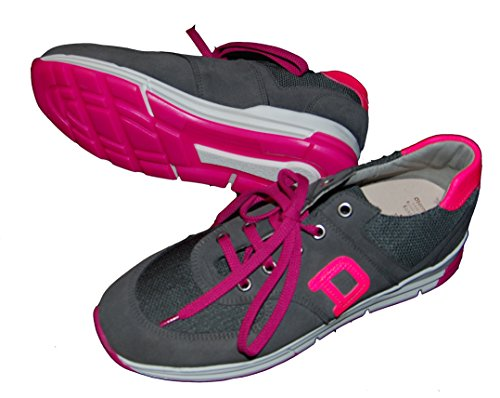 Däumlind Kinderschuhe, Mädchen Schuhe, Lederschuhe grau-pink (Turino smoked pearl)
