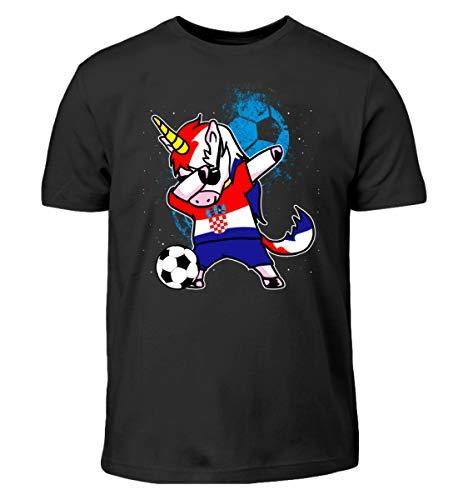 Dabbender Fußball Einhorn - Kroatien/Fußball Trikot/Nationalmannschaft/Geschenk WM - Kinder T-Shirt
