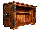 TV Tisch, HiFi Schrank, Rustikal Unikat, Massivholz, Vintage,Schrank Tisch braun Länge: 90 cm, Breite: 41 cm, Höhe: 52 cm
