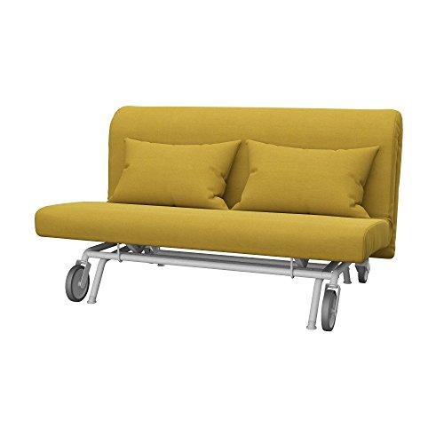 Soferia Fodera Extra Ikea PS Divano Letto a 2 posti, Tessuto Elegance Dark Yellow
