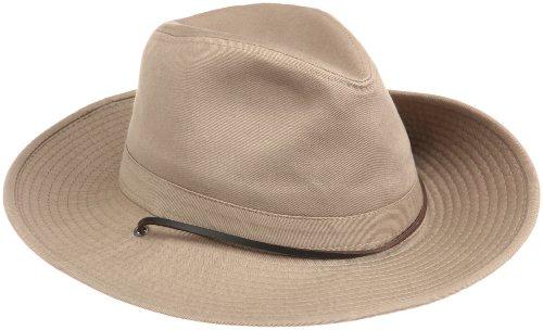Hut Safari mit Lederband und breiter Krempe - Outdoorhut/Reisehut
