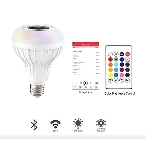 YKS E27 LED Musik Lampe RGB Farbe Licht Bluetooth-Steuerung Smart Audio Lautsprecher Lampen Schrank, Schrank, Flur, Wohnzimmer, Schlafzimmer Led-br40