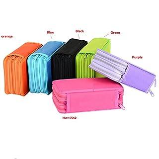 Butterme Portable 3-Layer Large Capacity Zipperd Sac à Crayons Crayon Sac à Crayons avec Compartiments Papeterie Boîtes de Rangement et organisateurs pour Les Voyages School Office Art Craft