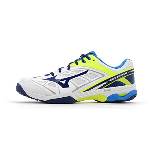 Mizuno Wave Exceed All Court Scarpe da Tennis - AW17 White / Blue Depths / Safety Yellow