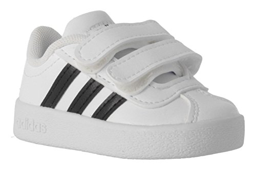 new products 02837 aa268 adidas Unisex Baby VL Court 2.0 CMF I Hausschuhe, Weiß (Ftwbla Negbas