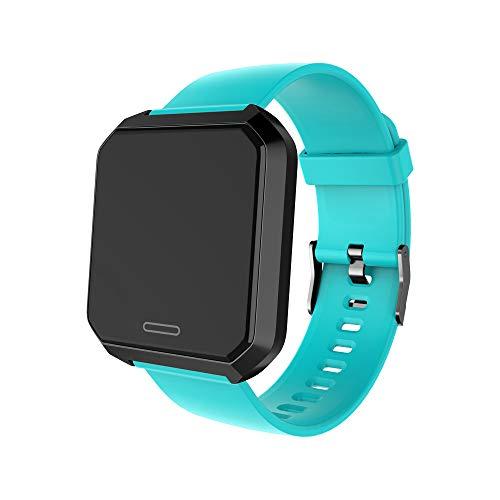 Yimiky IP67 wasserdichte intelligente Uhr, 1,3 Zoll 240 * 240 ausgeglichenes Glas-Schirm Tapeten-intelligentes Armband mit Legierungs-Gehäuse Smartwatch für Samsung iPhone - Grün