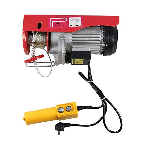 OUBAYLEW Polipasto eléctrico 220v cabestrante de cable eléctrico para 200/600/800KG/1T con control...