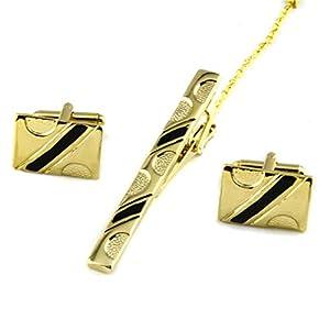 HONG-Accessories Krawattenclip-Manschettenknöpfe Legen Kragenclip-Zubehör fest