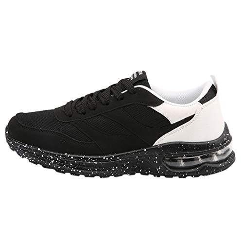 ng Sommer Sneaker Air Atmungsaktive Turnschuhe Schnürer Leichte Stoßfest Mode Sportschuhe Outdoor Athletisch Laufschuhe für Gym Walking Jogging Laufen Basketball (Weiß, 42 EU) ()