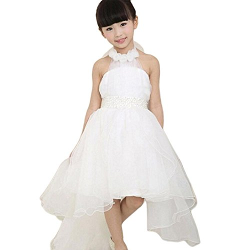 Malloom® Blumenmädchen Prinzessin Kleid Kid Party Pageant Hochzeit Brautjungfer Tutu Kleider Kleid aus Netzstoff (130, ()