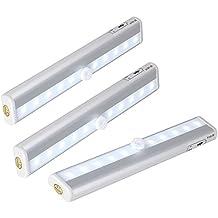 Barra de Luz LED Nocturna inalámbrica con sensor de movimiento Wireless Iluminación con Tira Magnética luces de tubo ligera con Banda Magnética Lámpara del Tronco