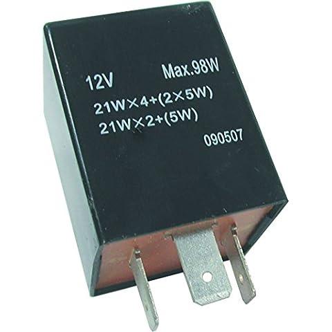 FL10 12 V 3 pin cuadrado Teckniks intermitente y arriesgar fusible