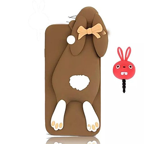 nokia-lumia-630-635-3d-funny-bow-tie-rabbit-case-vandot-2in1-soft-flexible-silicone-gel-lovely-bunny