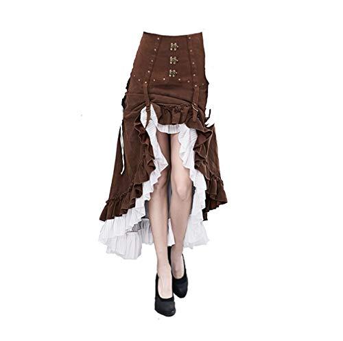 XINXIN Falda Irregular De Steampunk De Los Accesorios Falda De Halloween